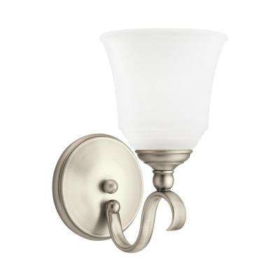 Parkview 1-Light Antique Brushed Nickel Bath Light with LED Bulb