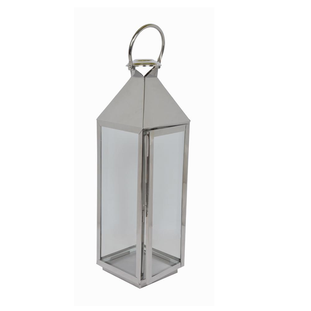 24 in. Large Stainless Steel Lantern