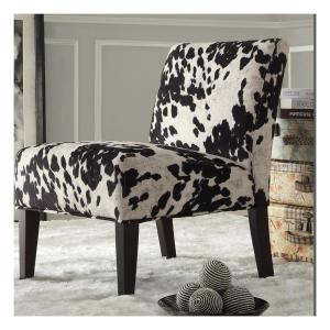 Stupendous Homesullivan Black Cowhide Accent Chair 40468F24S 3A The Squirreltailoven Fun Painted Chair Ideas Images Squirreltailovenorg