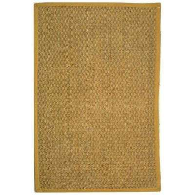 Natural Fiber Tan/Beige 9 ft. x 12 ft. Area Rug
