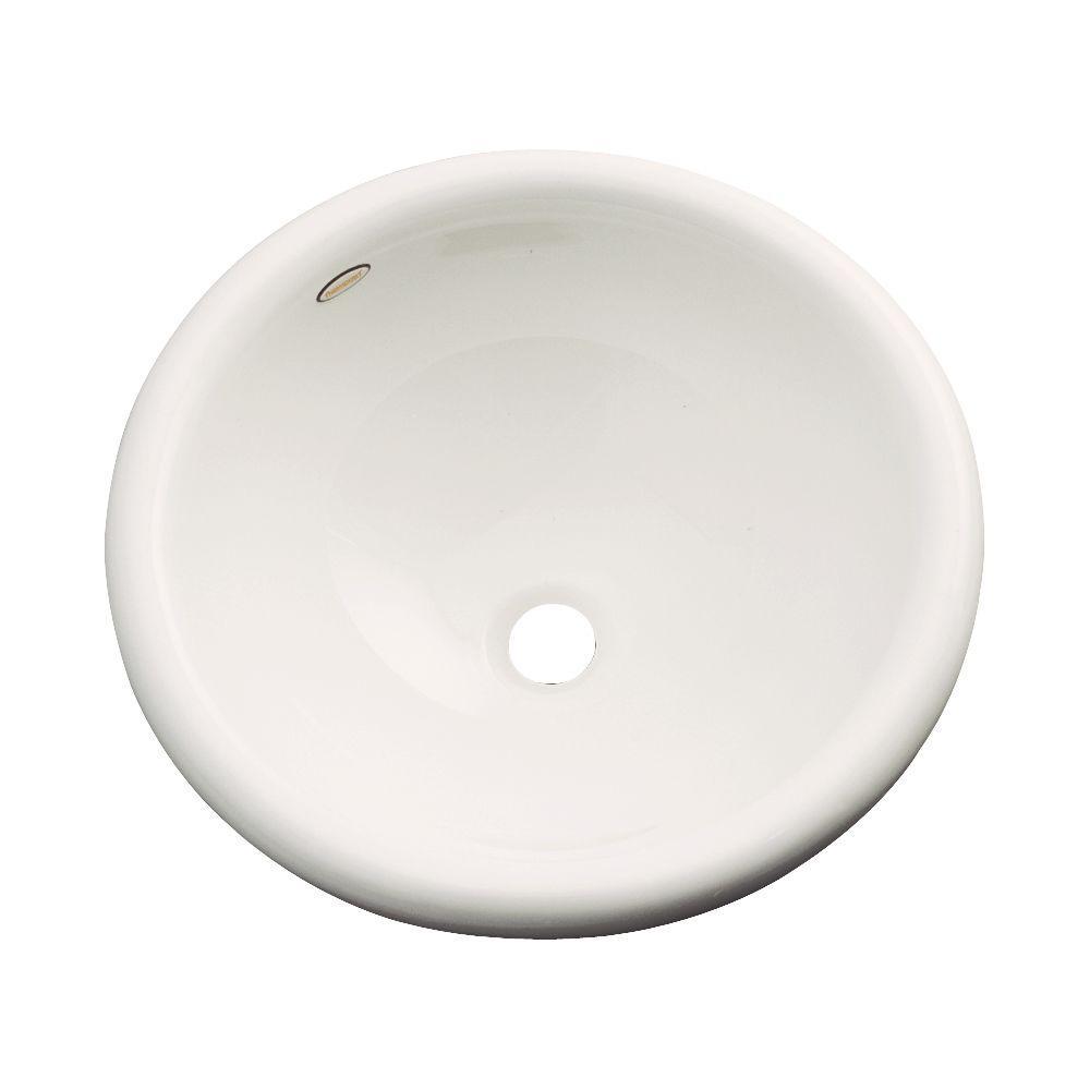 Thermocast Eudora Drop-In Bathroom Sink in Bone