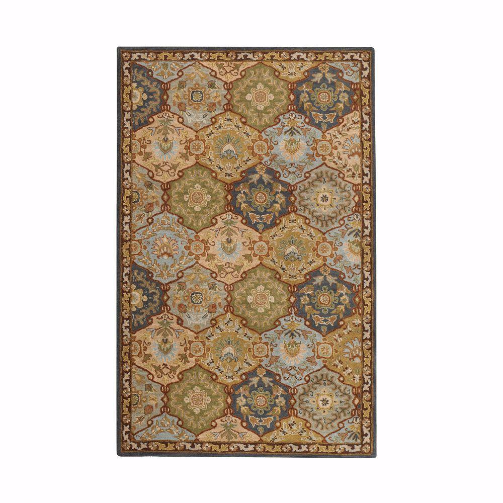 Home decorators collection grandeur blue multi 4 ft x 6 for Home decorators rugs blue