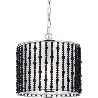 8722 1-Light Black Pendant