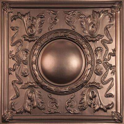 Bella Faux Bronze 2 ft. x 2 ft. Lay-in or Glue-up Ceiling Panel (Case of 6)