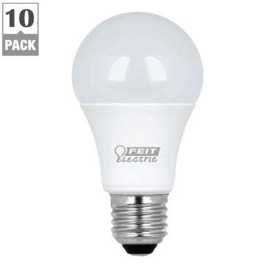60W Equivalent Warm White A19 LED Light Bulb Maintenance Pack (10-Pack)