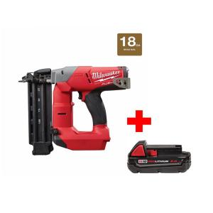 M18 FUEL 18-Volt Lithium-Ion Brushless 18-Gauge Cordless Brad Nailer with One 2.0 Ah Battery