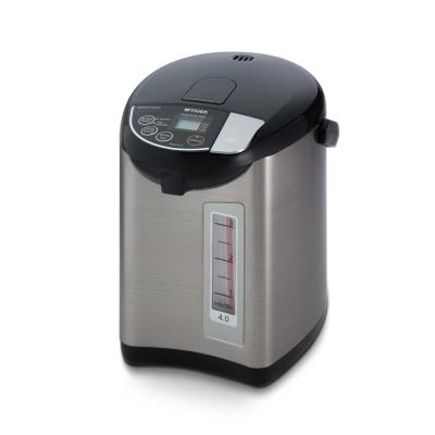 6.9-Cup Black Stainless Steel Electric Kettle and Water Boiler with Temperature Control