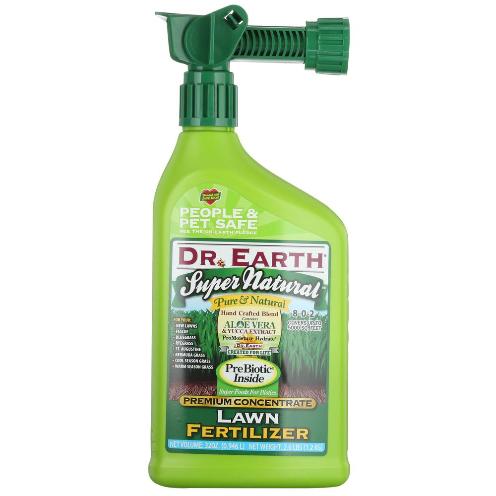 DR. EARTH 32 oz. Super Natural Ready-to-Spray Hose End Liquid Lawn Fertilizer