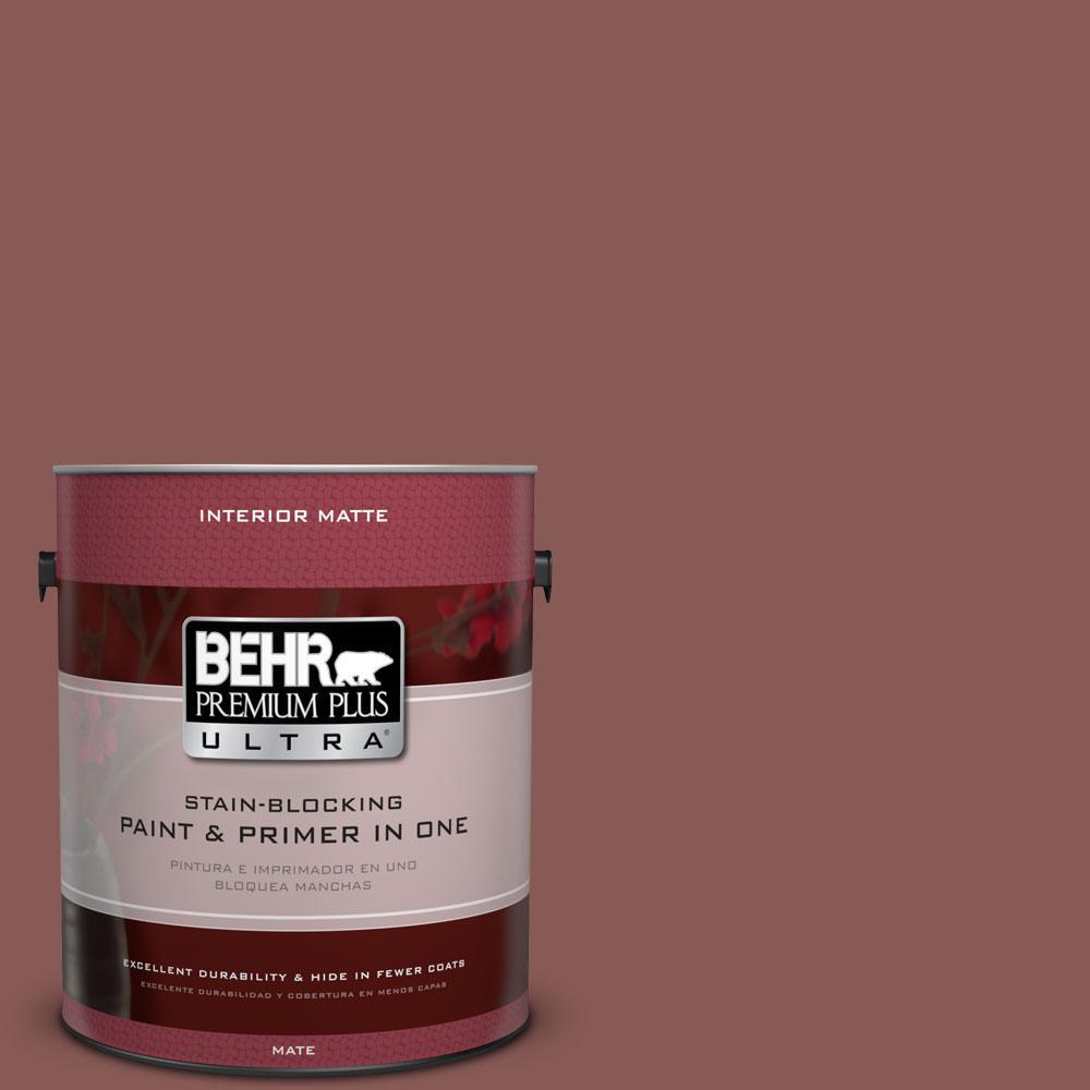 BEHR Premium Plus Ultra 1 gal. #PPU1-9 Red Willow Flat/Matte Interior Paint
