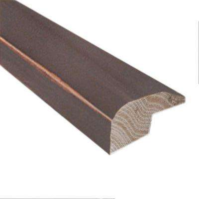 Smoky Mineral/Flax/Natural Fossil 0.88 in. x 2 in. x 78 in. Length Hardwood Carpet Reducer/Baby Threshold Molding
