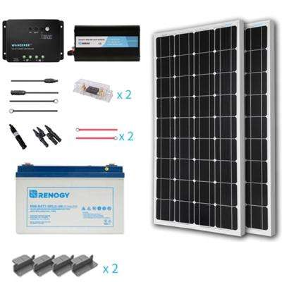 200-Watt Starter Complete Solar Panel Kit Mono Off Grid Solar with Deep Cycle Pure GEL Battery
