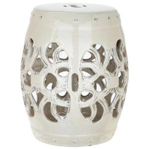 Safavieh Imperial Vine Cream Patio Stool Acs4539b The