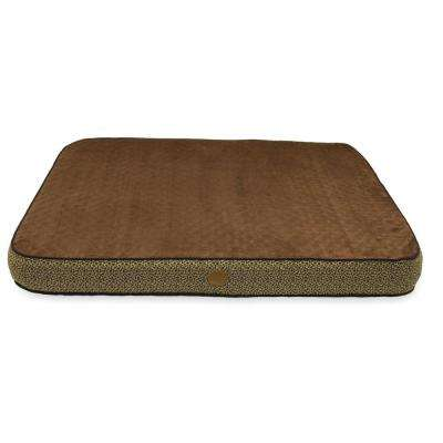 Superior Orthopedic Small Mocha Paw Bone Print Dog Bed
