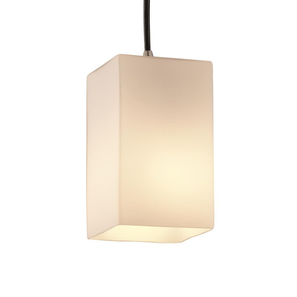 Justice Design Group Lighting FSN-8703-55-MROR-MBLK-LED3-2100 Fusion-Aero 3-Light Bath Bar-Rectangle Shade-Matte Black-Mercury Glass-LED