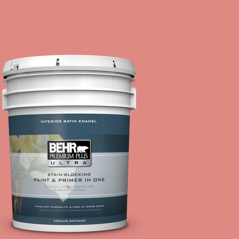 5 gal. #HDC-SP16-12 Begonia Satin Enamel Interior Paint