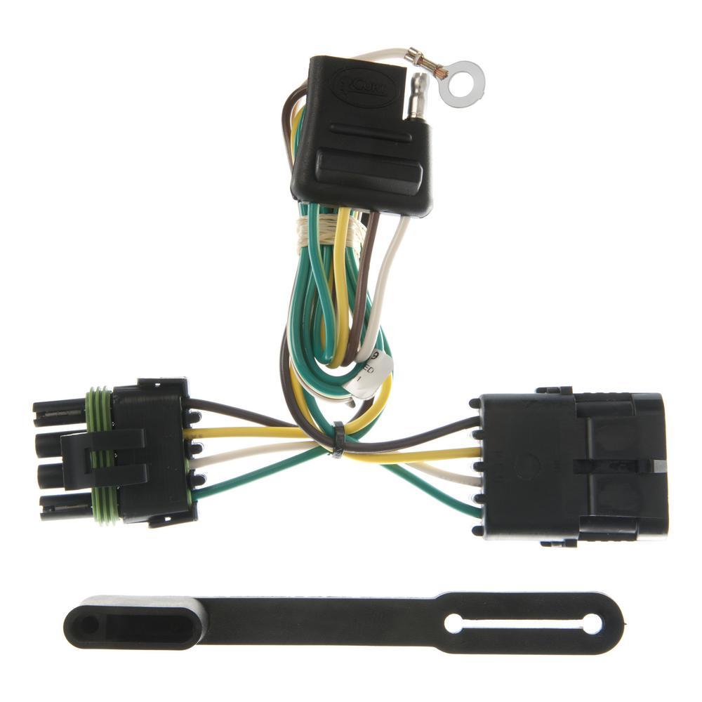 CURT Custom Vehicle-Trailer Wiring Harness, 4-Way Flat, Select C/K  Suburban, Blazer, Tahoe, Yukon, Escalade, T-Connector-55319 - The Home DepotThe Home Depot