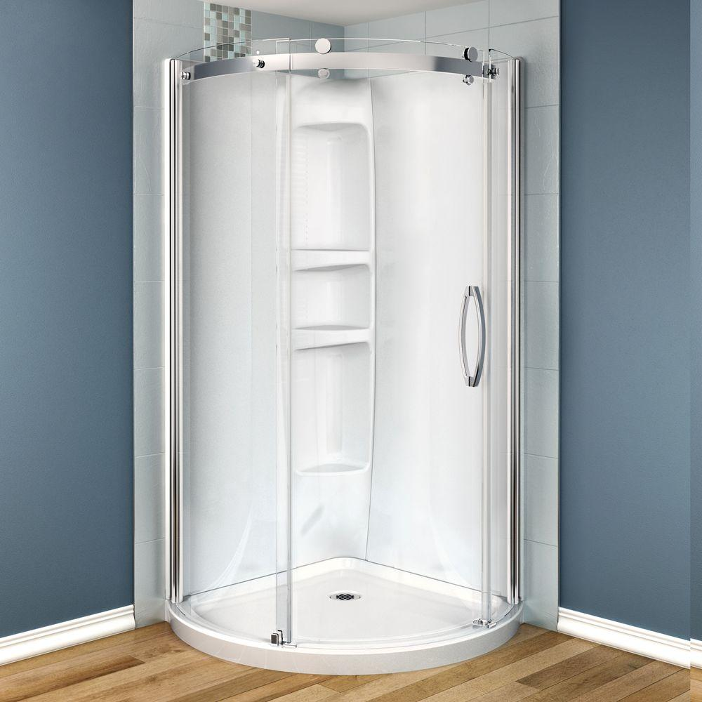 MAAX Olympia 36 in. x 36 in. x 78 in. Shower Stall in White