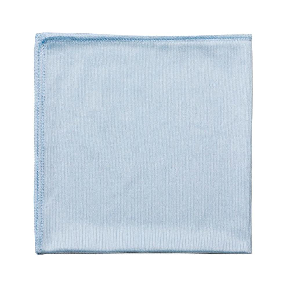 Rubbermaid Commercial Products 16 in. x 16 in. Light Commercial Blue Microfiber Cloth (24-Count)