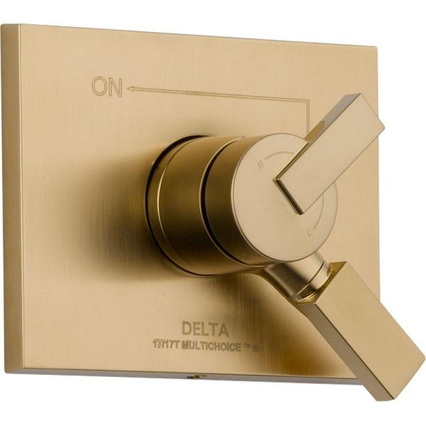 Vero Monitor 17 Series 1-Handle Volume and Temperature Control Valve Trim Kit in Champagne Bronze (Valve Not Included)