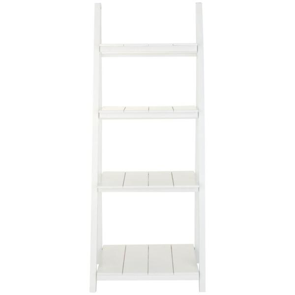 Casual Home Nolan White 4- Shelf Folding Ladder Bookcase 2310100910