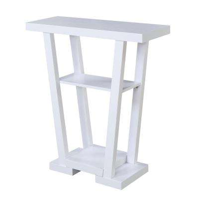 Newport White V Console Table