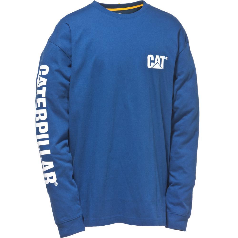 936b2ebb7c7e Trademark Banner Men's Tall-Large Bright Blue Cotton Long Sleeved T-Shirt