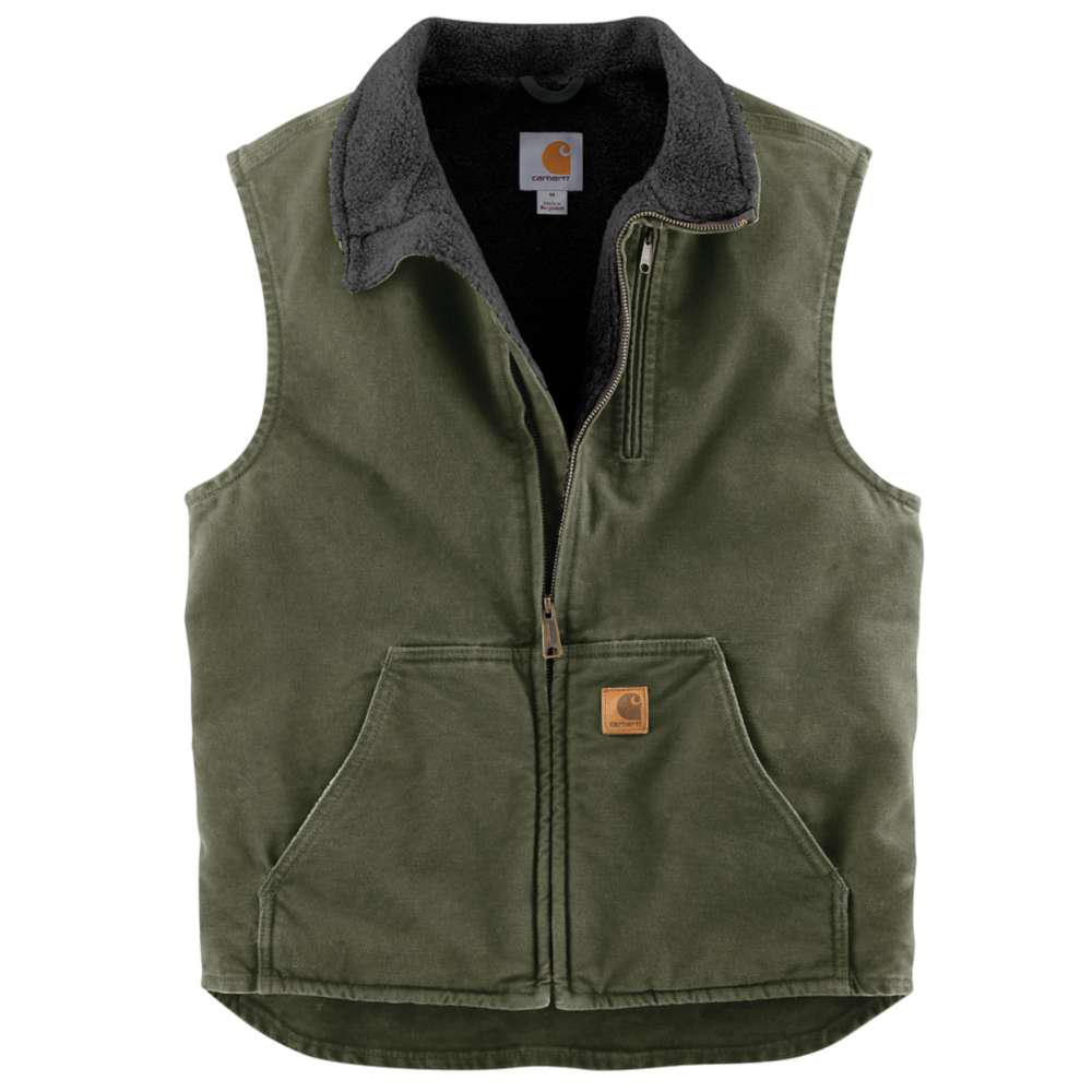Men's Regular Medium Moss/Black Cotton Lightweight Vests