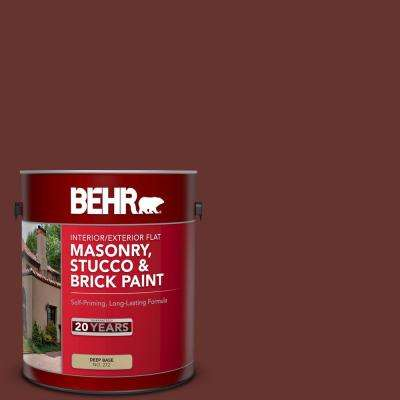 Behr 1 Gal Ppu2 01 Chipotle Paste Flat Interior Exterior Masonry Stucco And Brick Paint 27201 The Home Depot
