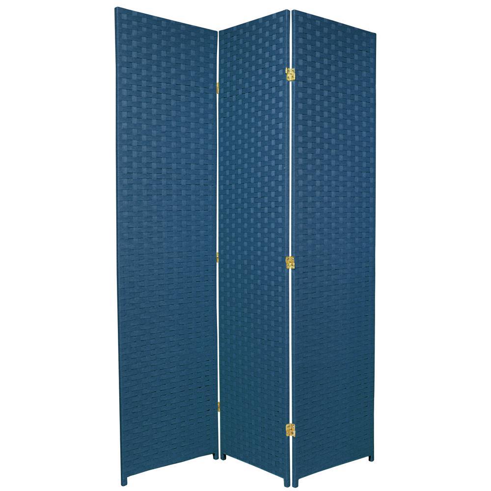 6 ft. Blue Jeans 3-Panel Room Divider