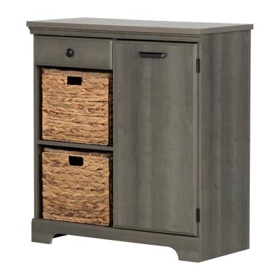 Versa Gray Maple Storage Cabinet