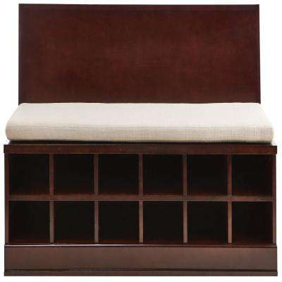 Bismark Smokey Brown Modular Storage Bench