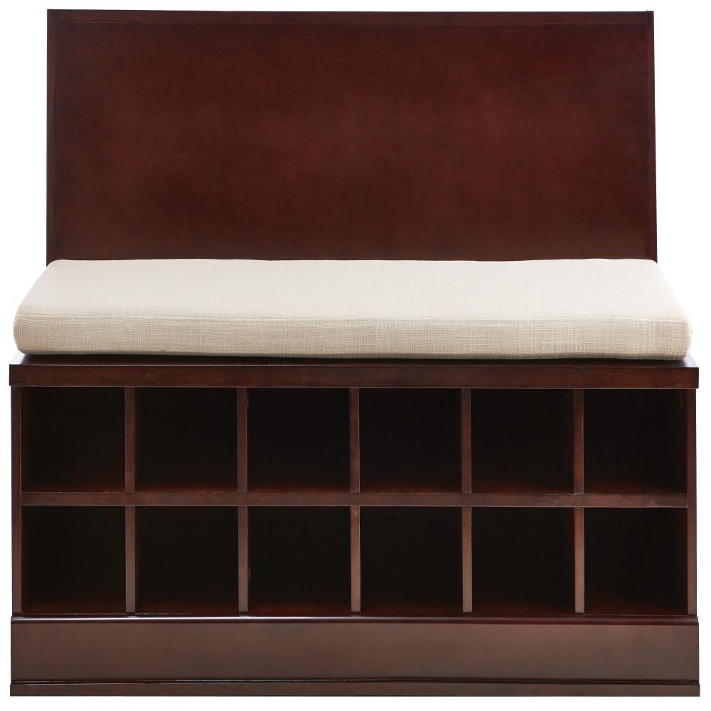 Home Decorators Collection Bismark Smokey Brown Modular Storage Bench 9950300820