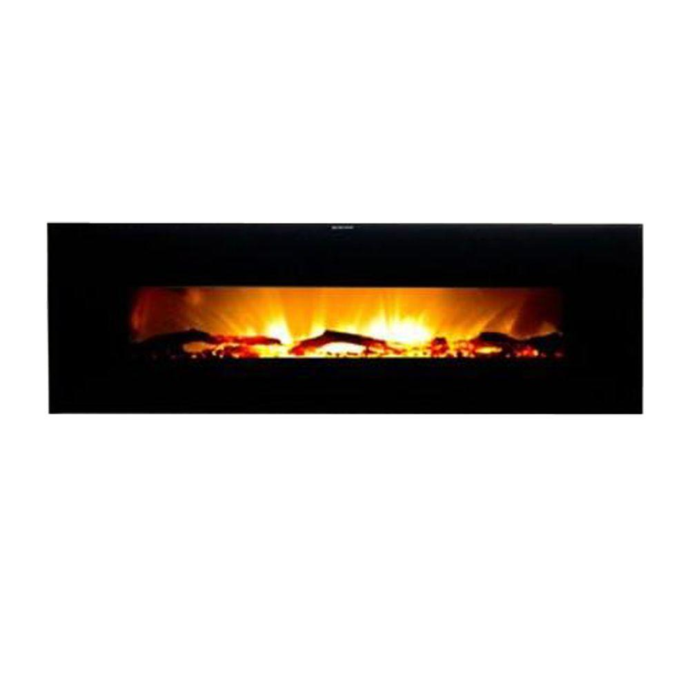 warm house valencia 50 in wall mount electric fireplace in black