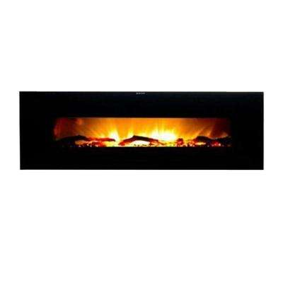 Valencia 50 in. Wall-Mount Electric Fireplace in Black