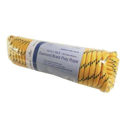 1/2 in. x 100 ft. Diamond Braid Poly Rope