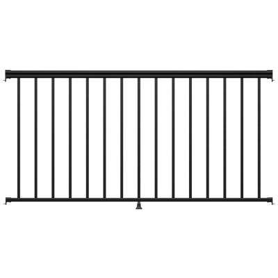 6 ft. Black Fine Textured Aluminum Level Rail Kit (1-Qty)