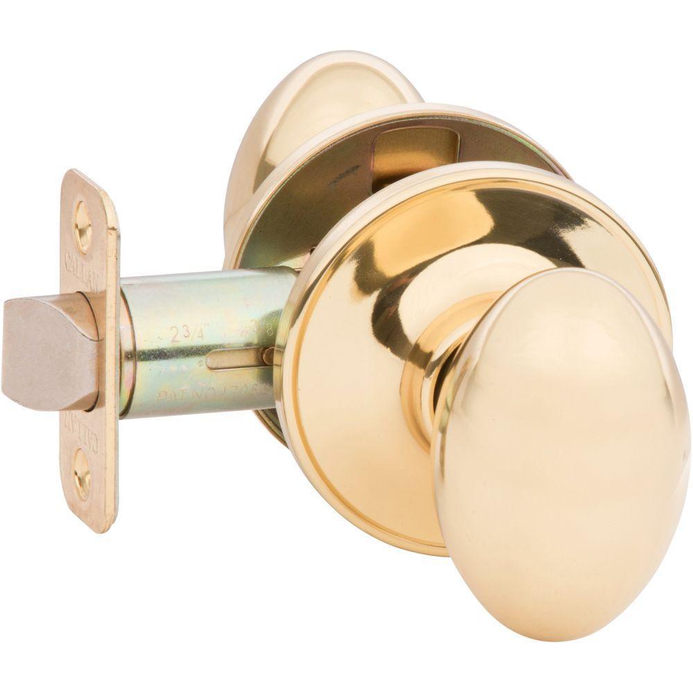 Carlyle Bright Brass Hall/Closet Door Knob