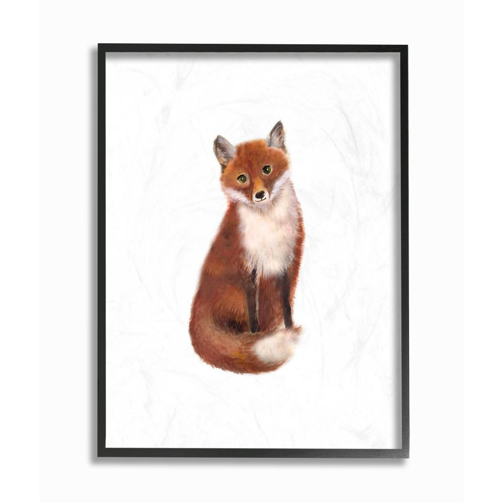 11 In X 14 In Red Fox Watercolor Illustration By Studio Q