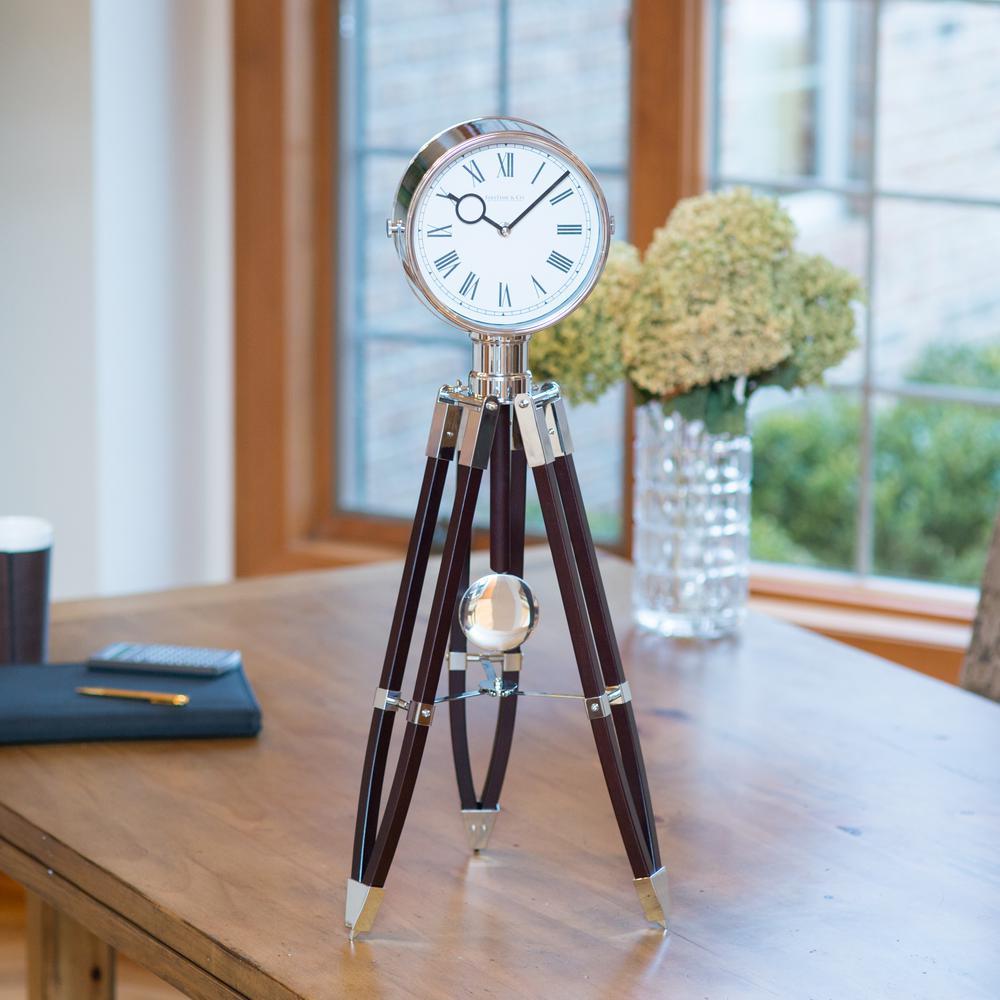 28 in. Tripod Pendulum Wall Clock