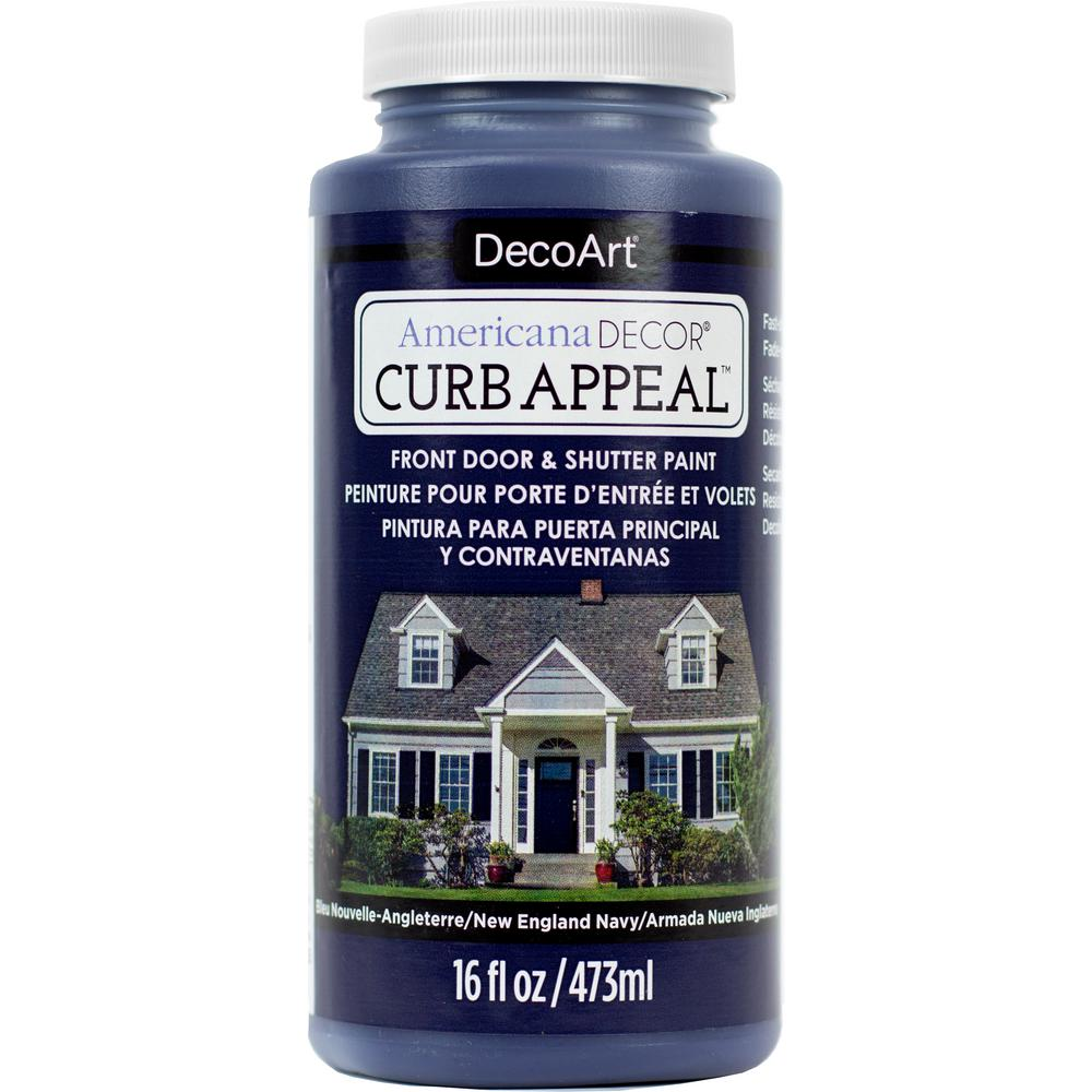 Americana Decor Curb Appeal 16 oz. New England Navy Paint