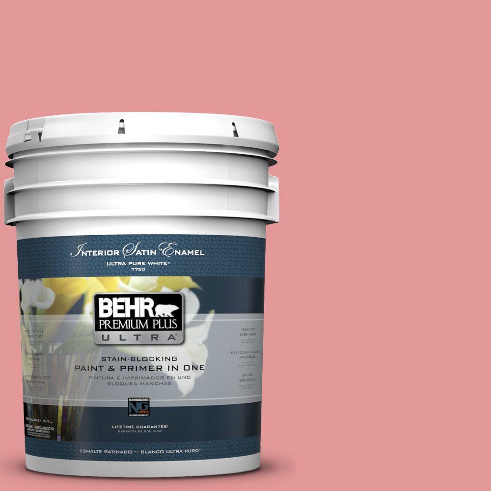 BEHR Premium Plus Ultra 5-gal. #M160-4 She Loves Pink Satin Enamel Interior Paint