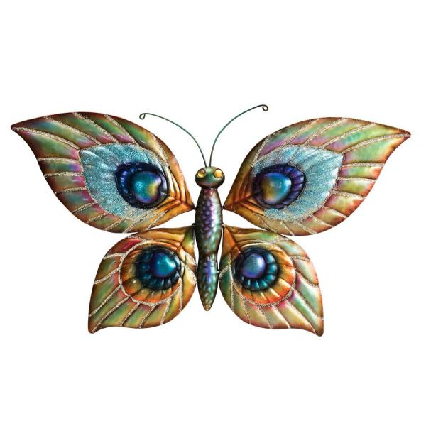 Sunjoy Peuter Decorative Butterfly And Dragonfly Wall Art D110007900 The Home Depot