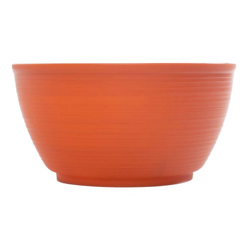 12 in. Tequila Sunrise Dura Cotta Plastic Plant Bowl