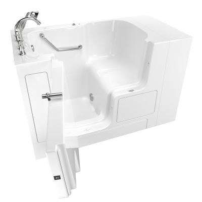 Gelcoat Value Series 52 in. x 32 in. Left Hand Walk-In Soaking Tub with Outward Opening Door in White
