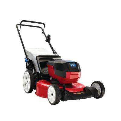 Recycler 21 in. 60-Volt Lithium-Ion Cordless Battery Walk Behind Push Lawn Mower - 4.0 Ah Battery/Charger Included