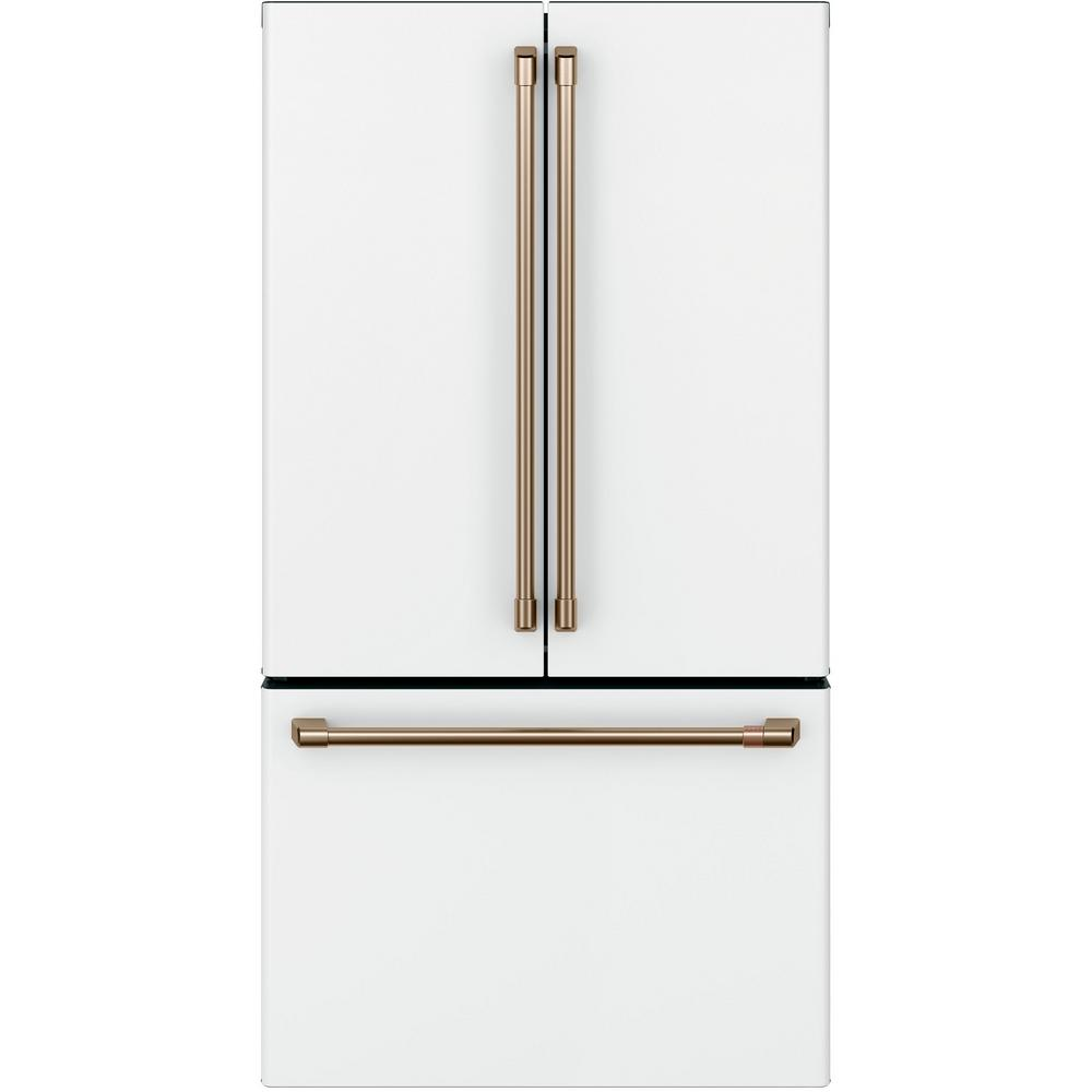 Cafe 23.1 cu. ft. French Door Refrigerator in Matte White, Counter Depth and Fingerprint Resistant