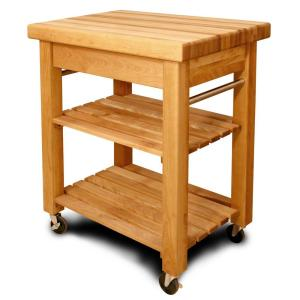 Catskill Craftsmen French Country Natural Kitchen Cart With Storage by Catskill Craftsmen