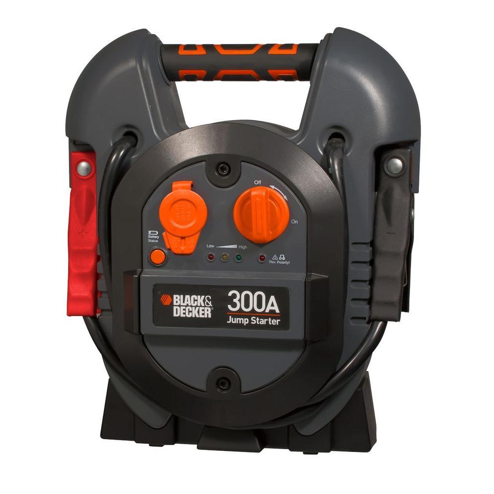 black+decker 300 amp portable jump starter-j312b - the home depot