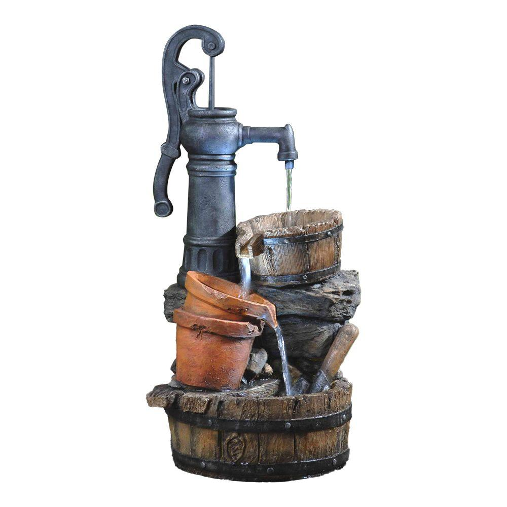Fountain Cellar Classic Water Pump Fountain With Led Light