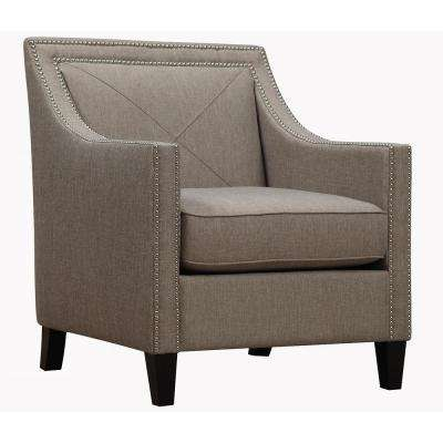 Asheville Light Grey and Linen Chair